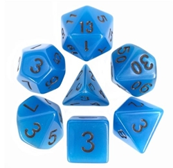 Picture of Blue Glow in the Dark Dice Set