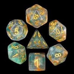 Picture of Luminous Koi Iridescent Glitter Dice Set