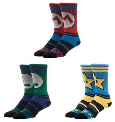 Picture of Super Mario Crew Socks 3 Pack