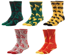 Picture of Justice League Crew Socks 5 Pack