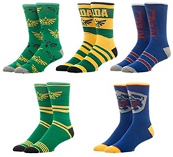Picture of Zelda Crew Socks 5 Pack