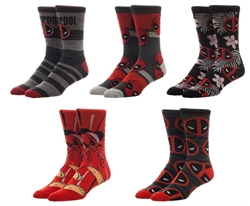 Picture of Deadpool Crew Socks 5 Pack