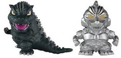 Picture of Godzilla and Mechagodzilla Chibi Figure 2 Pack