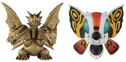 Picture of Godzilla Mothra and King Ghidorah Chibi Figure 2 Pack