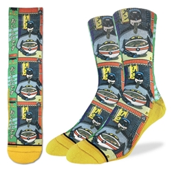 Picture of Men's Batman and Ramen Socks Size 8-13
