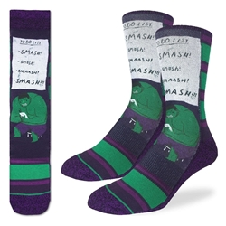Picture of Men's Hulk Smash To Do List Socks Size 8-13