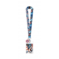 Picture of Captain America Avengers Lanyard with Dangle