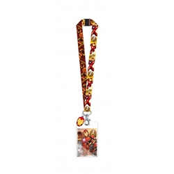 Picture of Iron Man Avengers Lanyard with Dangle