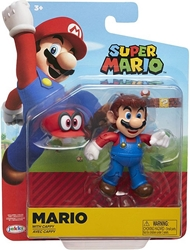 "Picture of World of Nintendo Mario with Cappy 4"" Figure"
