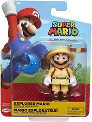 "Picture of World of Nintendo Explorer Mario 4"" Figure"