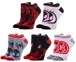 Picture of Marvel Miles Morales Spider-Man 5 Pair Ankle Socks
