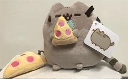 Picture of Pusheen with Pizza and Keychain Plush