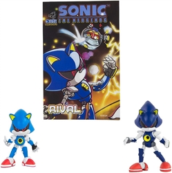 Picture of Sonic the Hedgehog Classic Metal Sonic & Modern Metal with Comic Book