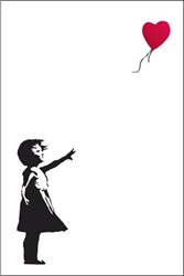 "Picture of Banksy Balloon Girl 24""x36"" Poster"