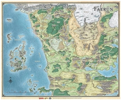 Picture of Dungeons and Dragons RPG Sword Coast Adventurer's Guide Faerun Map