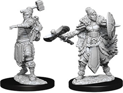 Picture of Dungeons and Dragons Nolzur's Marvelous Miniatures Female Half-Orc Barbarian