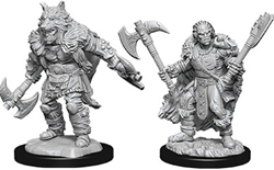 Picture of Dungeons and Dragons Nolzur's Marvelous Miniatures Male Half-Orc Barbarian