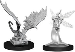 Picture of Dungeons and Dragons Nolzur's Marvelous Miniatures Sprite & Pseudodragon