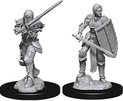 Picture of Dungeons and Dragons Nolzur's Marvelous Miniatures Female Human Fighter