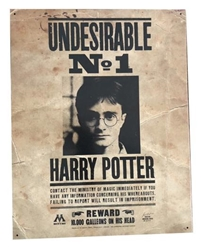 Picture of Harry Potter Undesirable No 1 Wanted Metal Sign