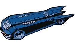 Picture of Batman Animated Batmobile Mega-Mega Magnet