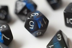 Picture of Sapphire Mineral Rocks Dice Set
