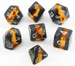 Picture of Amber Mineral Rocks Dice Set