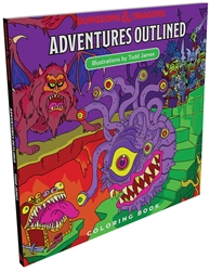 Picture of Dungeons and Dragons Adventures Outlined Coloring Book