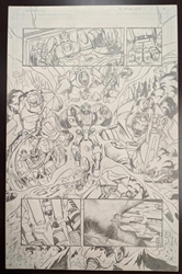Picture of Emil Cabaltierra Transformers more Than Meets the Eye 2012 Annual pg 30 Original Art
