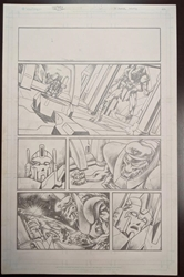 Picture of Emil Cabaltierra Transformers more Than Meets the Eye 2012 Annual pg 22 Original Art