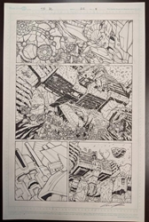 Picture of Andrew Griffith Transformers Dark Cybertron #11, pg 8 Cover Original Art