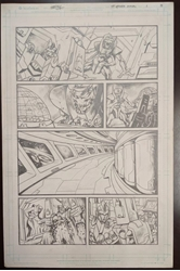 Picture of Emil Cabaltierra Transformers more Than Meets the Eye 2012 Annual pg 31 Original Art