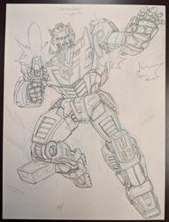 Picture of Dan Khanna Transformers Red Alert Crad Original Art