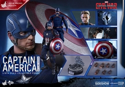Picture of Captain America Civil War Captain America Battling Version Hot Toy Exclusive