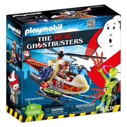 Picture of Ghostbusters Venkman with Helicopter Playmobil Set