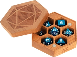 Picture of Hexagon Cherry Wood Dice Case
