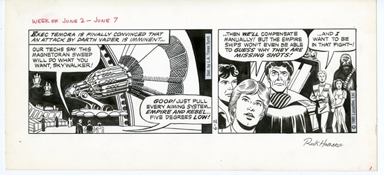 Picture of Star Wars Dailies Russ Manning and Rick Hoberg Art 1980 June 2 Original Art