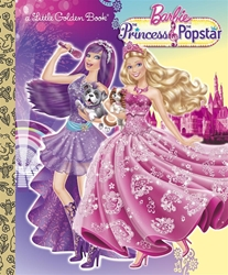 Picture of Barbie Princess and the Popstar Little Golden Book