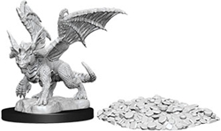 Picture of Dungeons and Dragons Nolzur's Marvelous Miniatures Blue Dragon Wyrmling