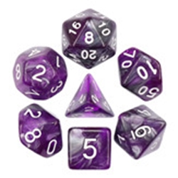 Picture of Dark Crystal Gray and Purple Dice Set