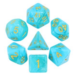 Picture of Atlantis Blue Dice Set