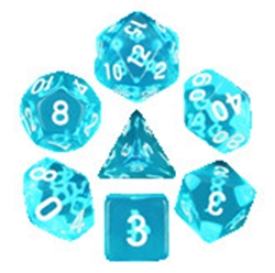 Picture of Azure Gems Blue Dice Set