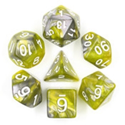 Picture of Green Flow Gray and Green Dice Set