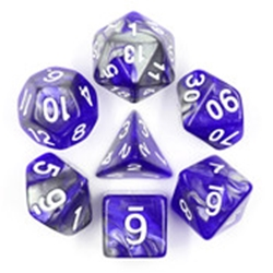 Picture of Cold Iron Gray and Blue Dice Set