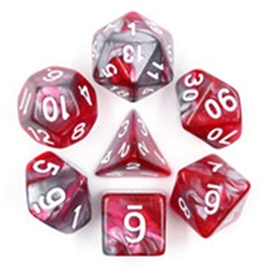 Picture of Dragon's Blood Gray and Red Dice Set
