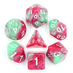 Picture of Strawberry Creme Red and Green Dice Set