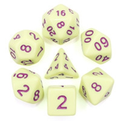 Picture of Eggshell Rose White Dice Set