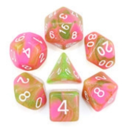 Picture of Apple Taffy Pink and Brown Dice Set