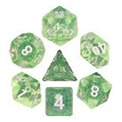 Picture of Emerald Gems Green Dice Set