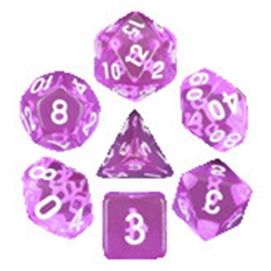 Picture of Tyrian Gems Purple Dice Set